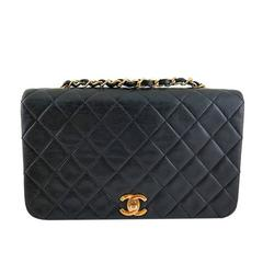 Chanel Black Lambskin Medium 2.55 Classic Thick Flap Bag