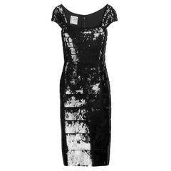 Black Herve Leger Sequin Bandage Cocktail Dress
