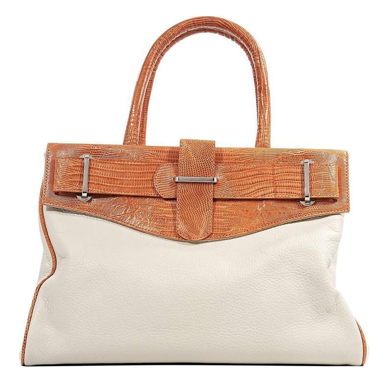 White And Orange Daniella Ortiz Tote Bag At 1stdibs