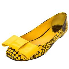 Louis Vuitton Monogram Collectors Yayoi Kusama Yellow Dots Flats Sz 36
