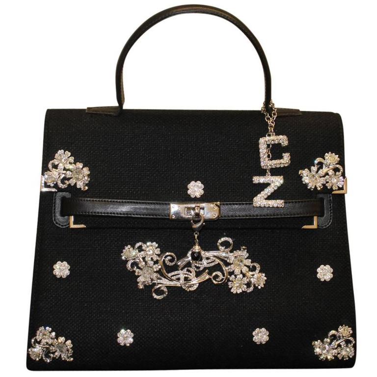 Carlo Zini Milano Black Jewel Bag