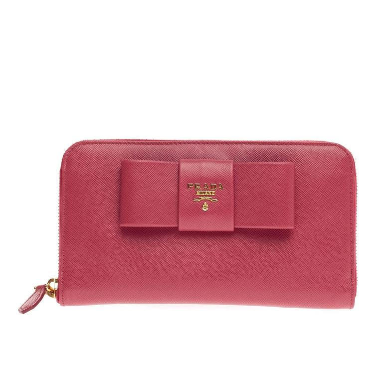 9aa6f5469211 Prada Saffiano Leather Bow Wallet | Stanford Center for Opportunity ...