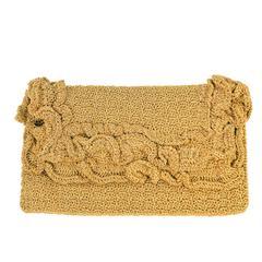 Vintage Pichel Gold Metallic Wire Evening Bag