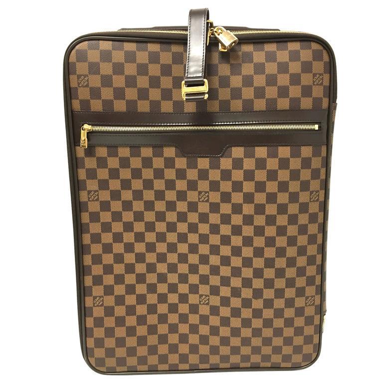 61e30395c LOUIS VUITTON Damier Ebene Pegase 55 Suitcase at 1stdibs