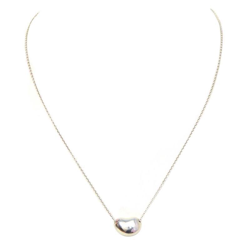 b571444ff768f Tiffany & Co. Sterling Silver Large 18mm Elsa Peretti Bean Necklace