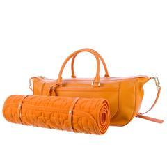 Louis Vuitton Epi Orange Large Yoga Sport Bag including mat