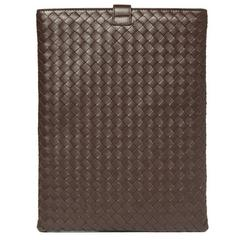 Brandnew Bottega Veneta Ebano Woven Ipad Case