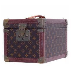Vintage Louis Vuitton monogram travel mini vanity case, toiletry case, trunk.