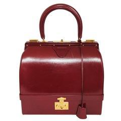 "Stunning Hermès rarity ""The mallette"" handbag late 60s"