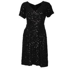 Vintage Jeanne Paquin Sequin Cocktail Dress