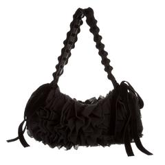 Tom Ford for Yves Saint Laurent Leather, Lace and Silk Evening Bag Fall 2003