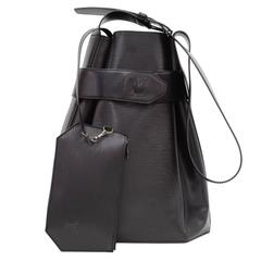 Vintage Louis Vuitton Sac Depaule GM Black Epi Leather Shoulder Bag