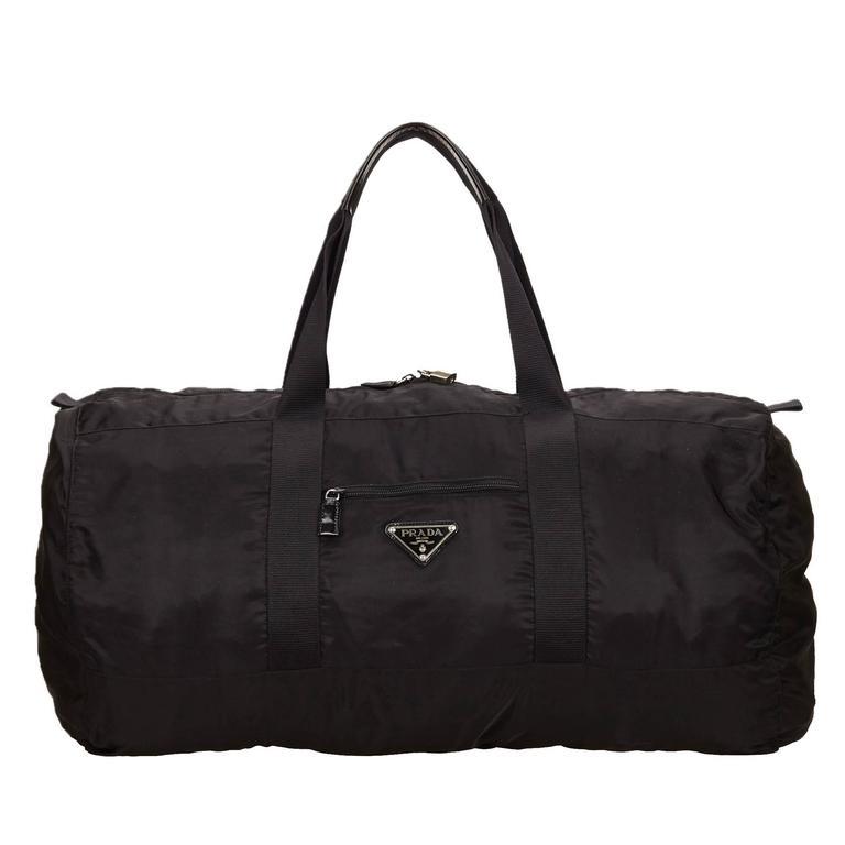Prada Black Nylon Duffel Bag For Sale At 1stdibs