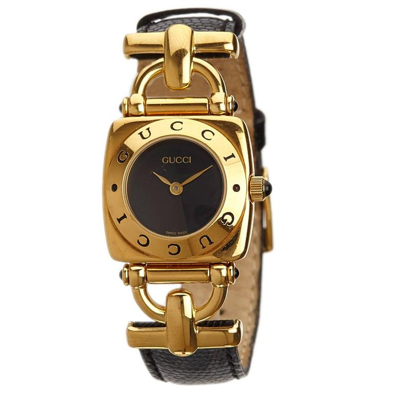 Gucci Black 6300L Series Watch For Sale