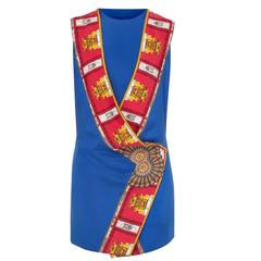 Versace Haute couture blue dress, Spring/Summer 1991