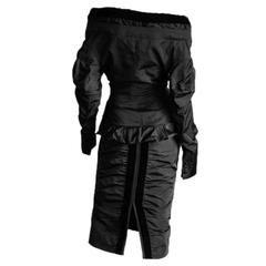 Rare & Iconic Tom Ford YSL Rive Gauche FW 2002 Black Runway Jacket & Skirt! FR42