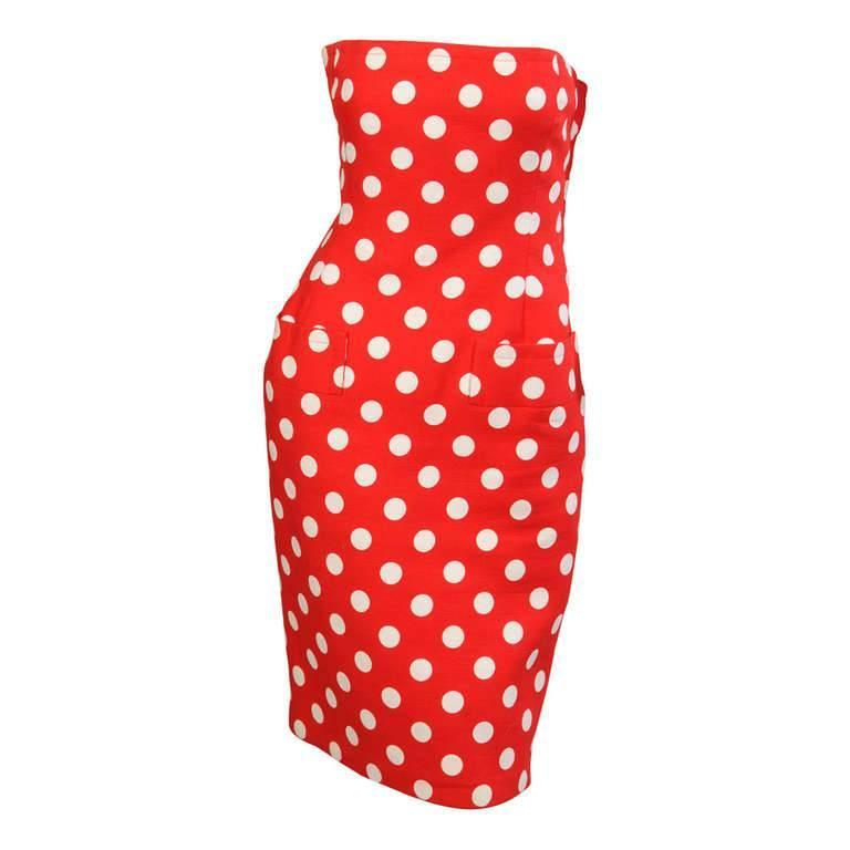 Givenchy Haute Couture Strapless Polka Dot Dress & Jacket 1
