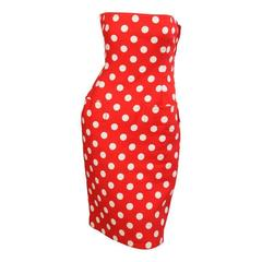 Givenchy Haute Couture Strapless Polka Dot Dress & Jacket