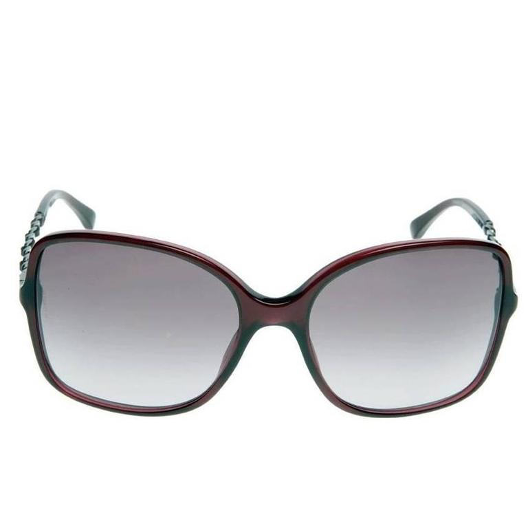 Chanel Sunglasses Red and Silver 1