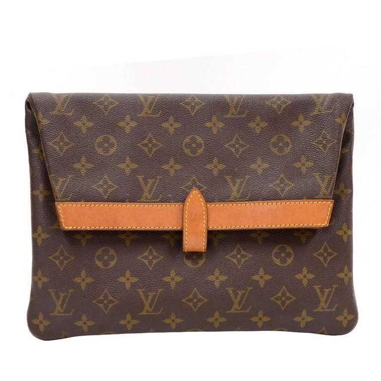 Louis Vuitton Pochette Pliant Monogram Canvas Envelope