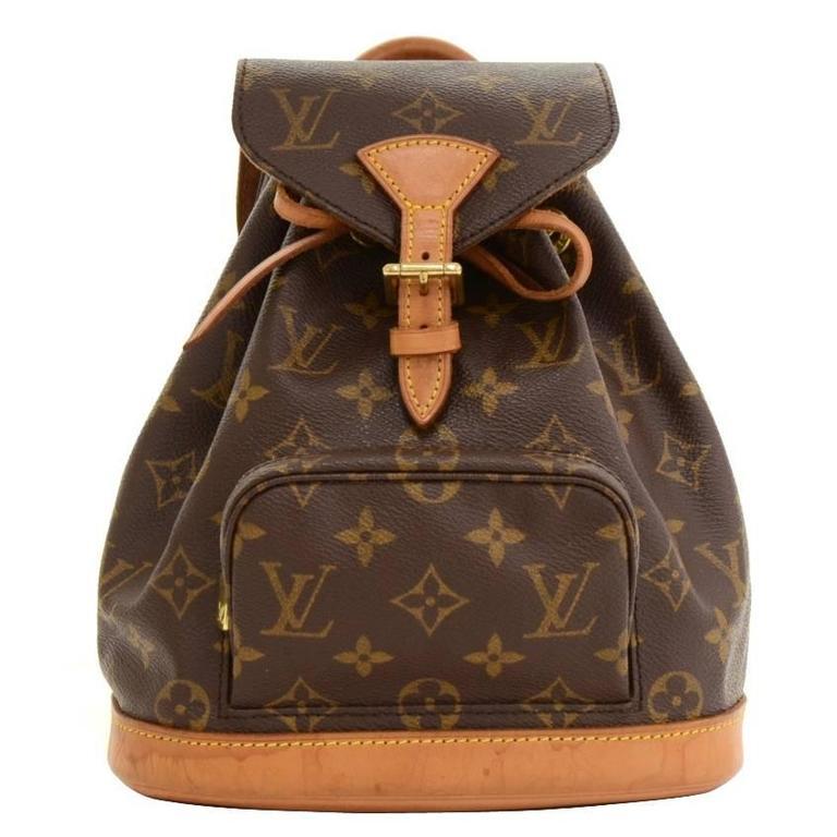 Louis Vuitton Mini Montsouris Monogram Canvas Backpack Bag For Sale