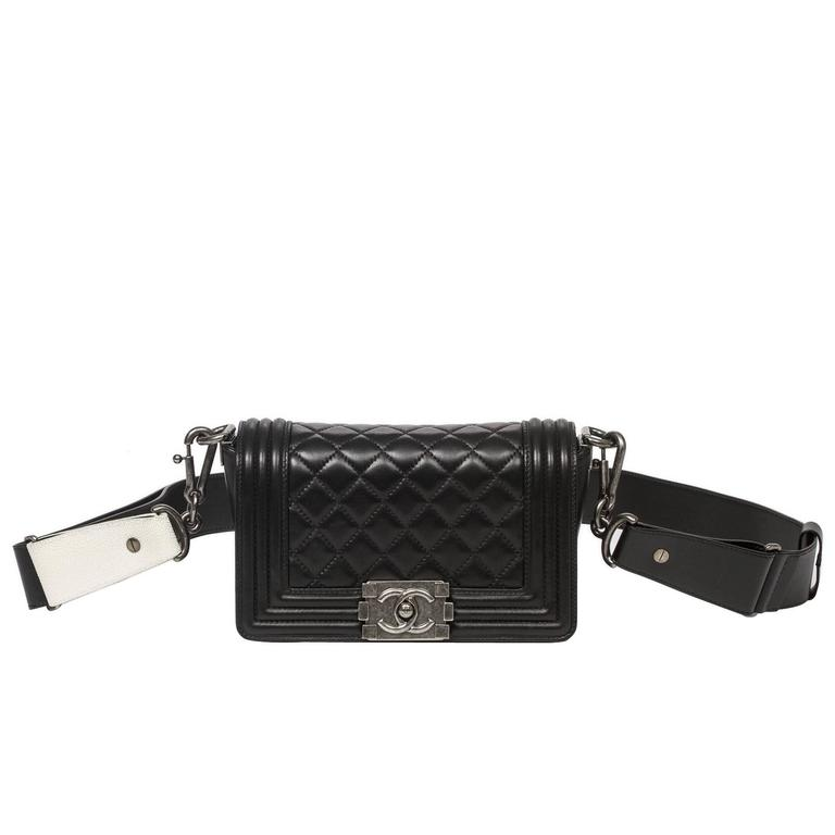 Chanel - Mini Boy Black Quilted Leather 1