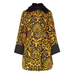 Versace Gold & black printed coat, Autumn/Winter 1991