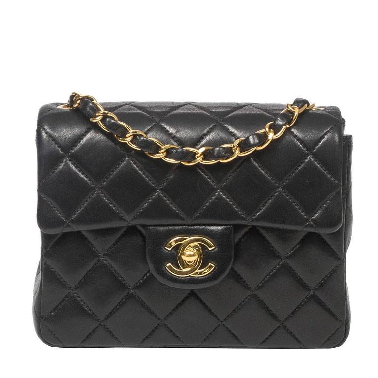 Chanel - Classic Mini Flap Black Quilted Leather 1