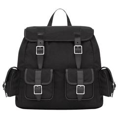 Saint-Laurent Rock Sac Canvas And Leather Backpack