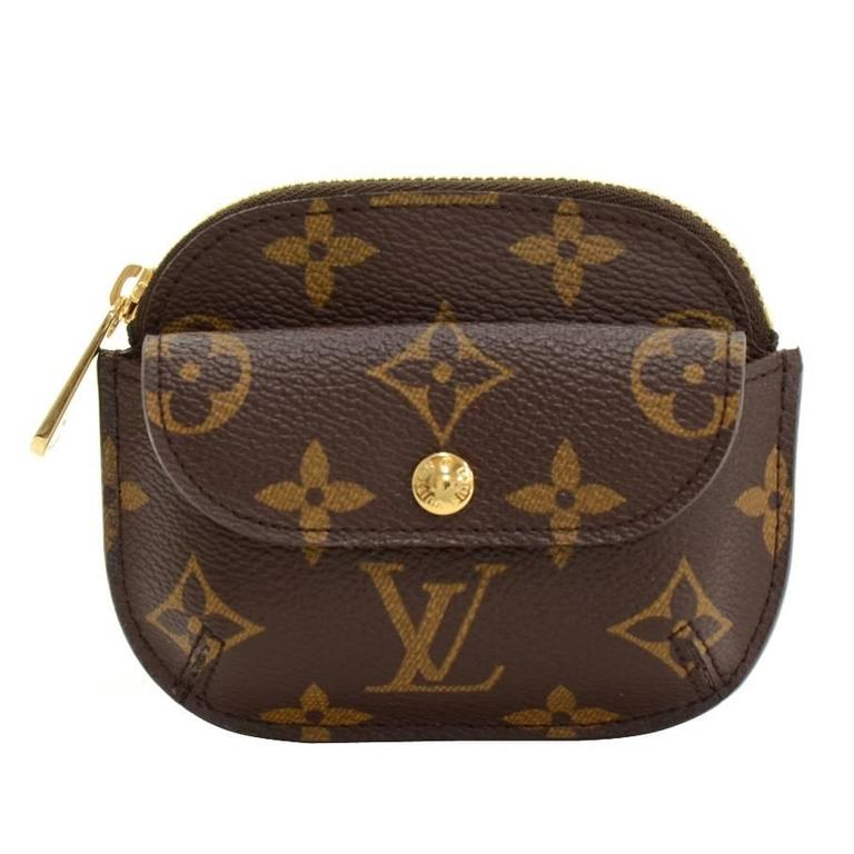 louis vuitton porte monnaie shilling monogram canvas coin case at 1stdibs. Black Bedroom Furniture Sets. Home Design Ideas