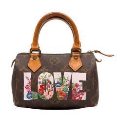 "Louis Vuitton Hand-Painted ""Love"" Monogram Nano Speedy Handbag"