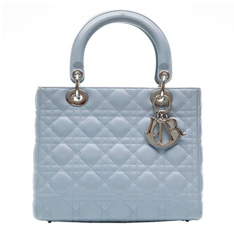 Dior Baby Blue Lady Handbag For
