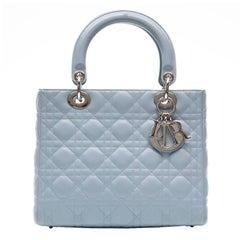 Dior baby Blue Lady Dior Handbag