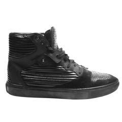 Balenciaga Sneakers - US 11 - 44 - Pleated Black Leather Arena Shoe