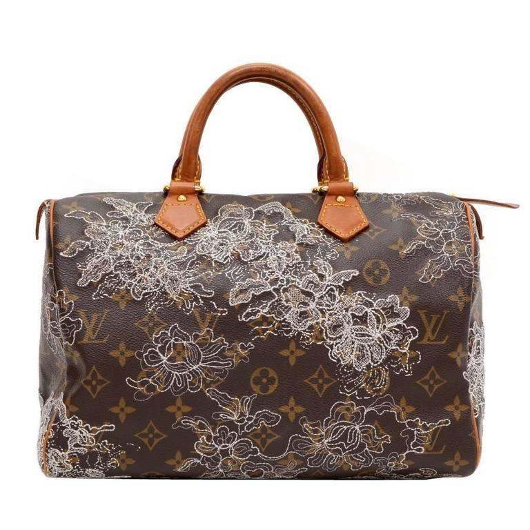 Louis Vuitton Speedy 30 Monogram Dentelle Canvas City Hand Bag - 2007 Limited