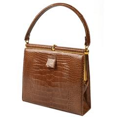 1960's Lucille de Paris Framed Alligator Handbag