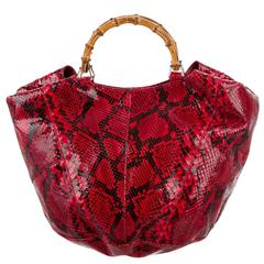 Kate's Iconic Tom Ford Gucci SS 1996 Red Python Leather Runway Ad Campaign Bag!