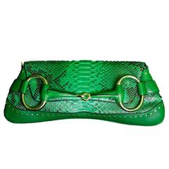 That Incredible Green Python Tom Ford For Gucci SS 2002 Collection Horsebit Bag!