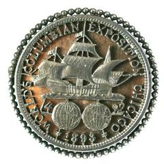 Columbian Exposition Souvenir Brooch, Chicago 1893