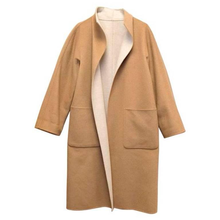 MaxMara Tan And Beige Reversible Coat For Sale