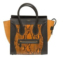 Celine Rust Python Suede Mini Luggage
