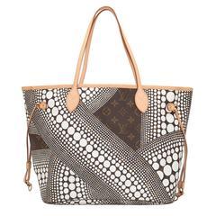 Louis Vuitton White Monogram Kusama Waves Neverfull MM