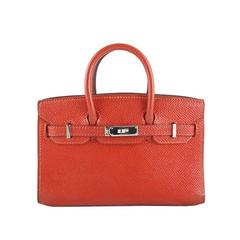 Hermes Micro Mini Birkin Feu Orange Epsom Leather - Rare
