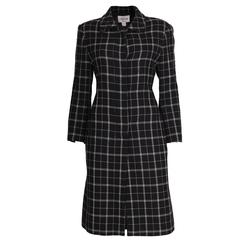 Oleg Cassini Couture Black and White Coat