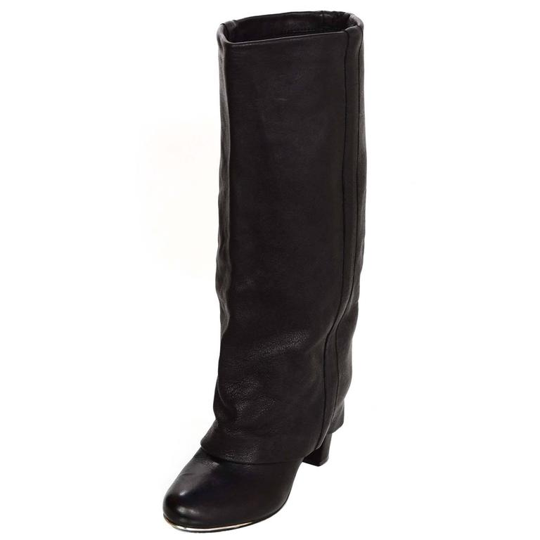 5577cbdc See By Chloe Black Leather Boots Sz 36