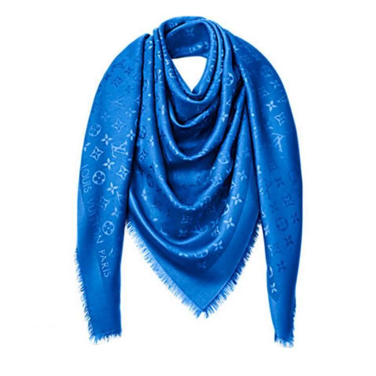 Louis Vuitton Monogram Shawl Blue Electric