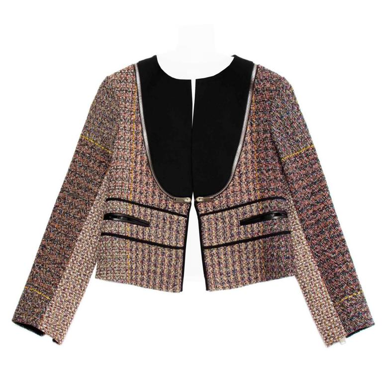 Celine Multicolor Wool Cropped Jacket