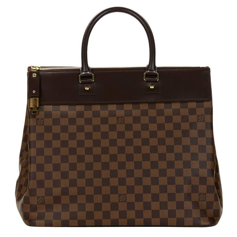2000s Louis Vuitton Brown Damier Ebene Coated Canvas Greenwich PM 1