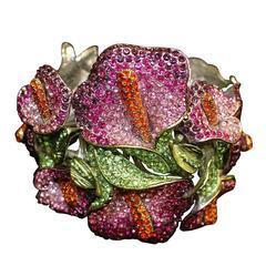 Carlo Zini Unique Floral Bracelet