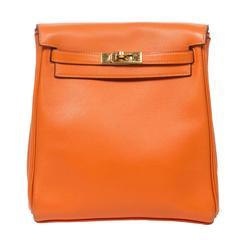 Hermes - Kelly Ado PM Orange Gulliver Leather